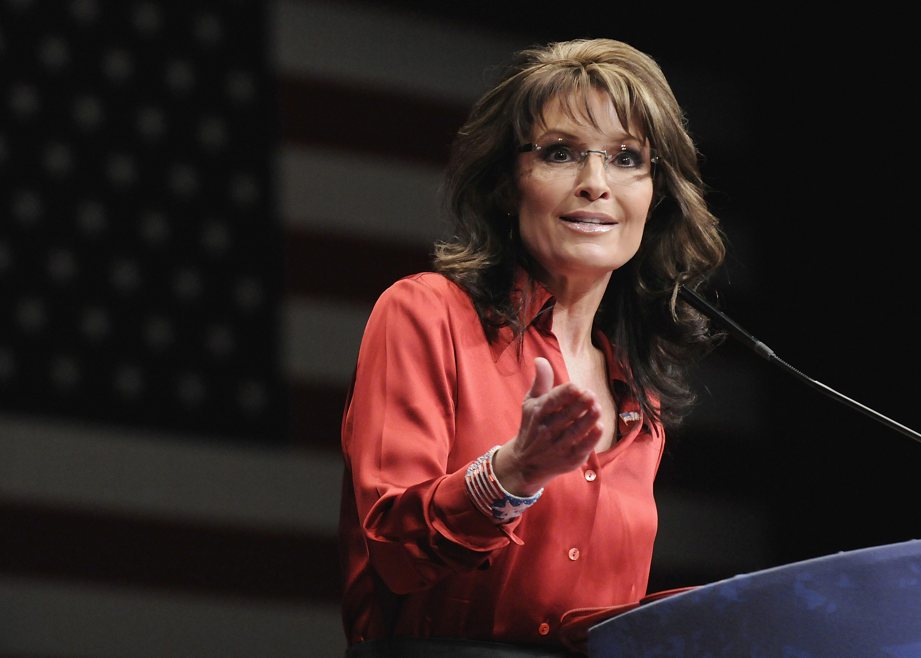 File photo of former Alaska Governor Sarah Palin speaking to American Conservative Union's annual CPAC in Washington