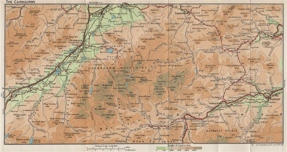 cairngorms.-vintage-map-plan.-aviemore-ballater-kingussie-braemar.-scotland-1959-290209-p